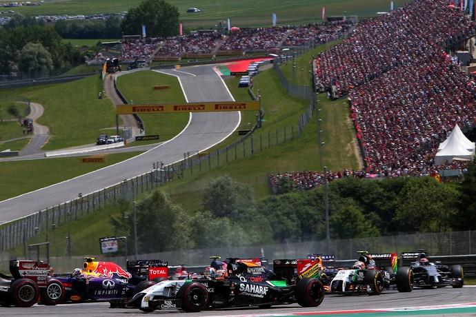 Sergio Pérez escalou o pelotão no GP da Áustria (Foto: Getty Images)
