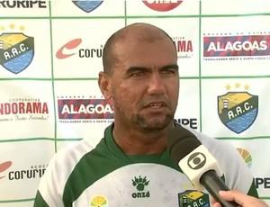 Cristiano Alagoano, atacante do Coruripe (Foto: Reprodução/TV Gazeta)