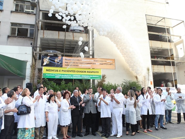 Ato aconteceu no Dia Mundial da Saúde. (Foto: Divulgação/APM)