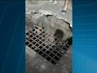 Moradores denunciam bueiros com tampas quebradas em Divinópolis