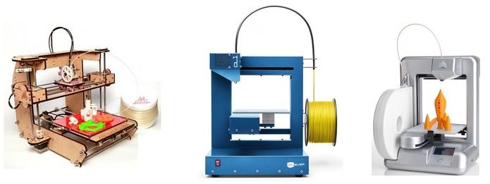 Modelos Matemáquina, Cliever CL1 e Cube são opções de impressoras 3D para residência (Foto: Divulgação) (Foto: Modelos Matemáquina, Cliever CL1 e Cube são opções de impressoras 3D para residência (Foto: Divulgação))