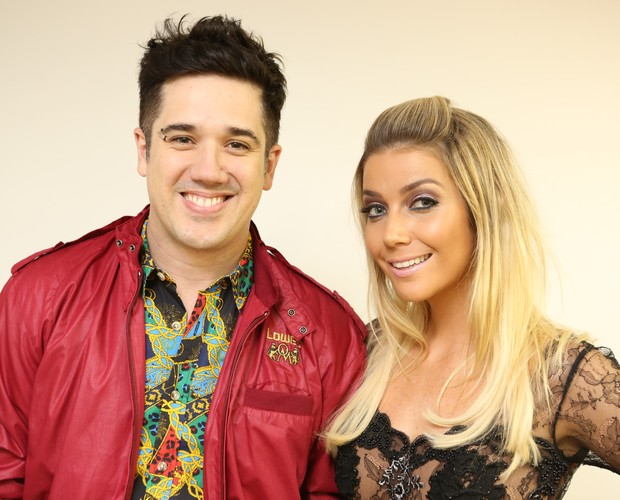Rogério Flausino e Luiza Possi (Foto: Isabella Pinheiro/Tv Globo)