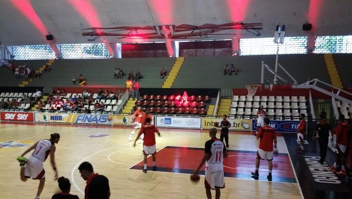 Flamengo e São José, NBB,, aquecimento (Foto: Marcello Pires)