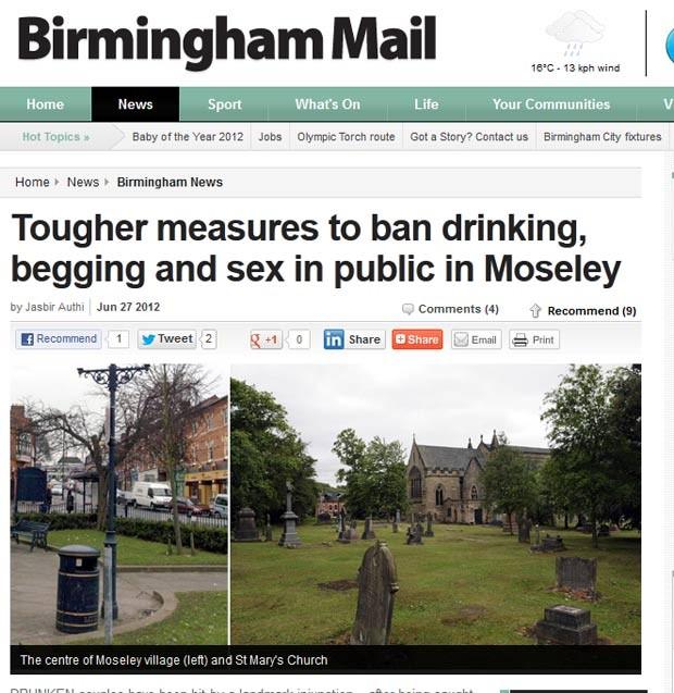 Vereadores proibiram sexo em um cemitério medieval em Moseley. (Foto: Reprodução)