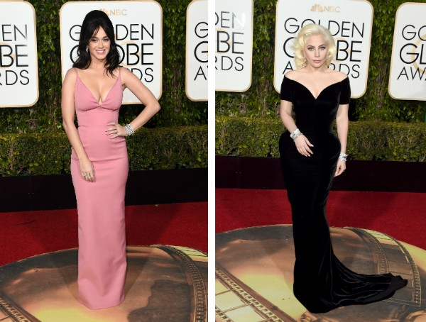 As cantoras Katy Perry e Lady Gaga (Foto: Getty Images)