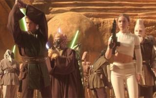 Hayden Christensen e Natalie Portman em 'Guerra nas estrelas - Episódio II: O ataque dos clones' (Foto: Divulgação)