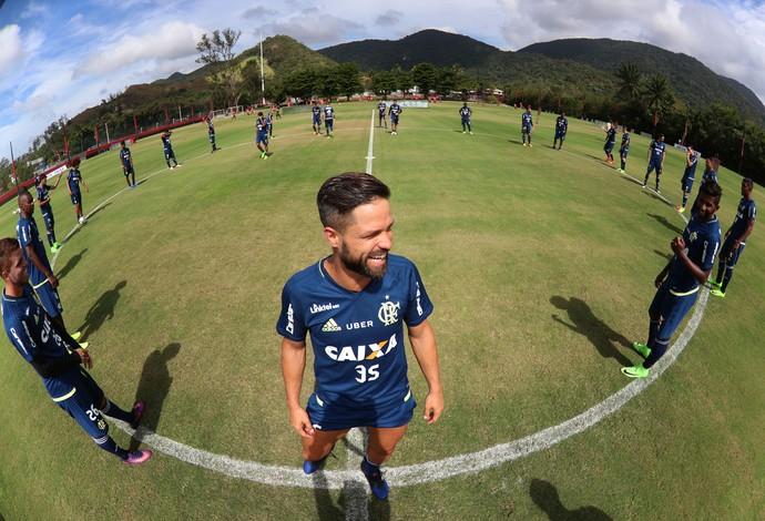 Diego se diz pronto para decidir o clássico domingo (Foto: Gilvan Souza/Flamengo)