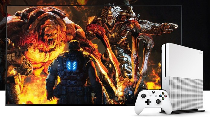 Gears of War 4 terá cores mais vivas no novo Xbox One S como demonstrado na E3 2016 (Foto: Reprodução/Microsoft)