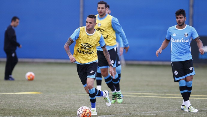 Luan, atacante, Grêmio, treino (Foto: Lucas Uebel / Grêmio / Divulgação)