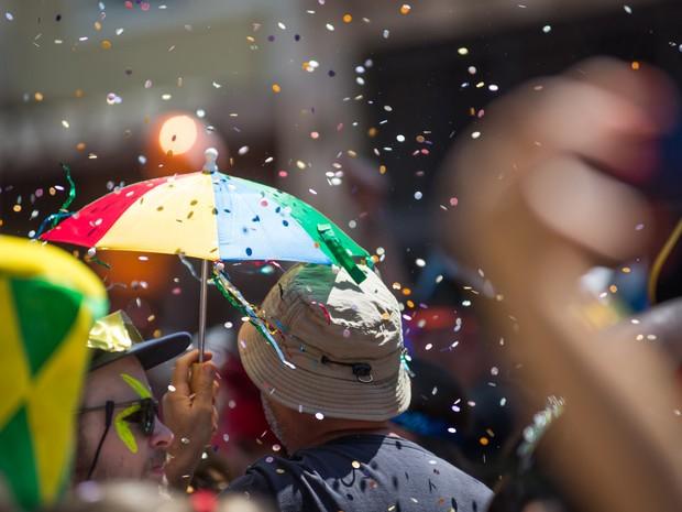 Confraria do Pasmado desfila pela na Zona Oeste (Foto: Débora Klempous/G1)