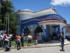 Manifestantes disseram que só deixariam a sede da Sudema após um acordo para a liberação de licença ambiental (Foto: Jorge Machado/ G1)
