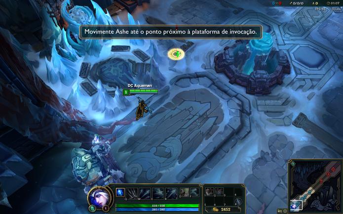 Para andar com o seu personagem em League of Legends, pressione o botão direito do mouse (Foto: Reprodução/Caio Fagundes)