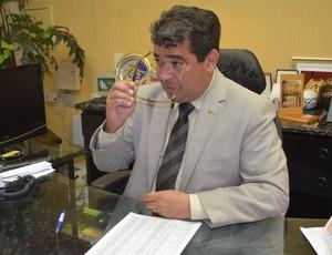 Amadeu Rodrigues, presidente da Federação Paraibana de Futebol (Foto: Hévilla Wanderley / GloboEsporte.com/pb)