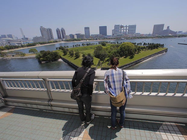 Rainbow Bridge, ponte de Tóquio (Foto: Koji Sasahara/AP Photo)
