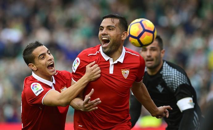 Mercado gol Sevilla Betis (Foto: AFP)