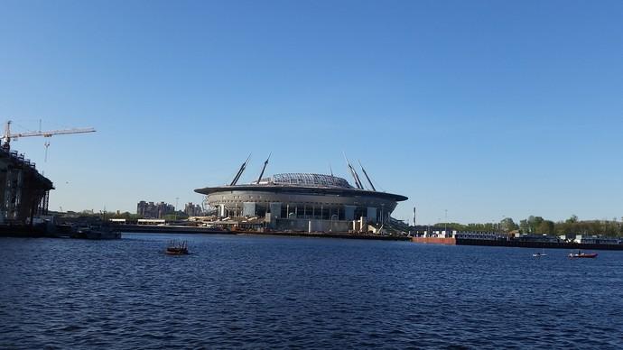 Arena de São Petersburgo (Foto: Eduardo Peixoto/GloboEsporte.com)