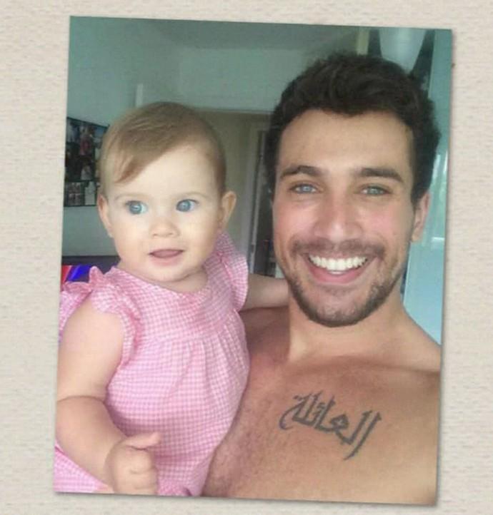 Ricardo Vianna com a filha (Foto: TV Globo)