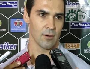 André Turatto durante apresentação como novo gerente de futebol do Icasa (Foto: Divulgação/Icasa FC)