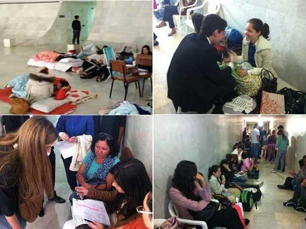 Noivos aguardam na fila para conseguir vaga para casar na Catedral de Brasília (Foto: Gabriella Julie/G1)