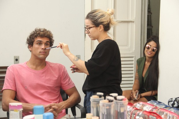 Felipe Roque e Aline Riscado (Foto: Wallace Barbosa/AgNews)