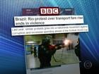 Violência em protesto no RJ também foi notícia em jornais internacionais
