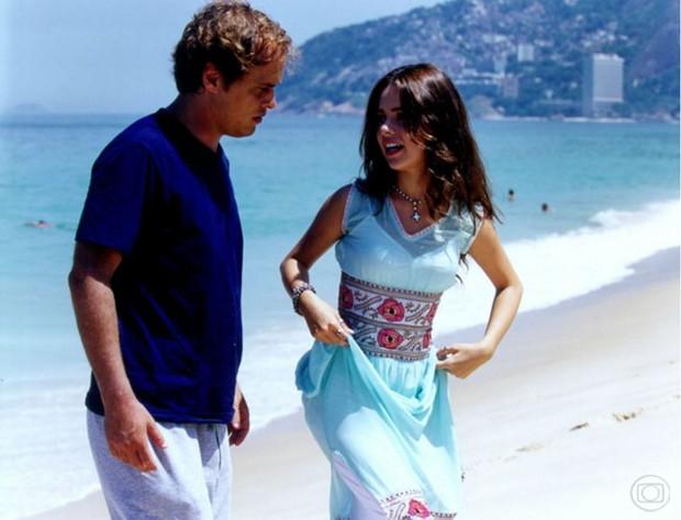 Sandy com Guilherme Fontes na novela Estrela-Guia (Foto: CEDOC)