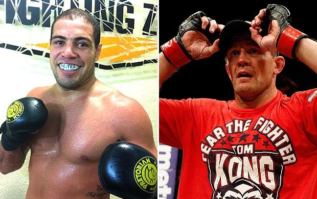 montagem UFC Tom Watson e Thales Leites (Foto: Editoria de Arte / Globoesporte.com)