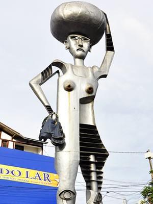 Monumento Maria Taquara (Foto: Tita Mara Teixeira/G1)