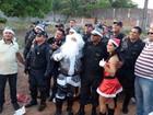'Emoção pura', diz militar sobre entrega de presentes para crianças no RN