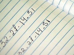 Números foram anotados em um caderno durante a madrugada (Foto   Reprodução TV Integração ea905b5644604