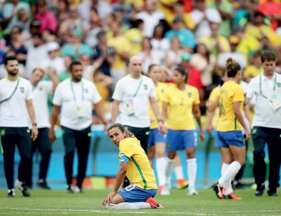 Marta do Brasil,após derrota da seleção feminina da Suécia (Foto:  Ricardo Nogueira/ÉPOCA)