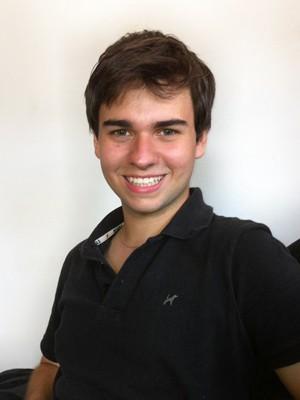 Renan confessa que o tempo atrapalha o estudante na prova do Enem  (Foto: Renan Matheus Macedo Tolfo/VC no G1)
