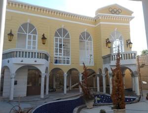Casa do ex-velocista André Domingos quando estava em construção (Foto: Reprodução / Facebook)