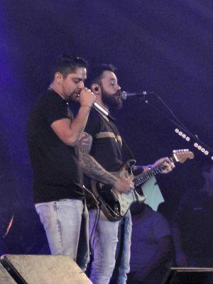Jorge e Mateus em show na Expocrato (Foto: Elias Bruno / G1)