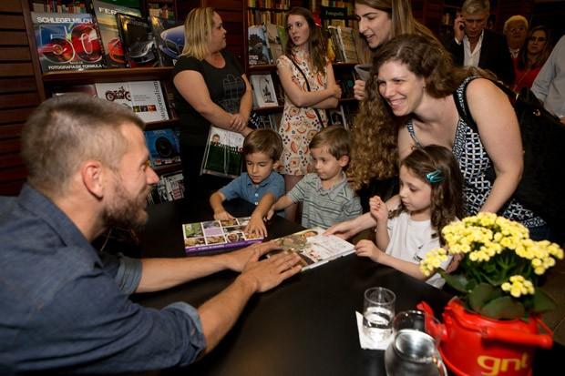 Lanamento do livro Tempero de Famlia com Rodrigo Hilbert (Foto: Elisa Mendes)