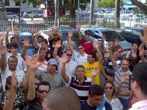 Agentes penitenciários cruzam os braços e visitas são canceladas (Foto: Divulgação/Jarbas Souza)
