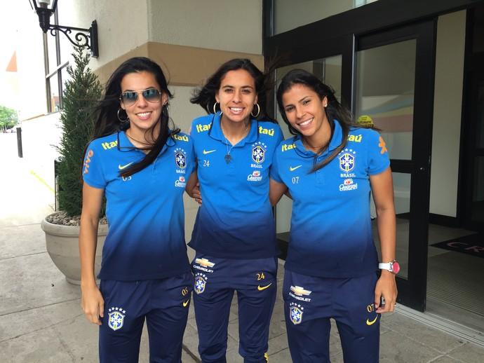 Thaisa, Andressa Alves e Fabiana  (Foto: Cintia Barlem (GloboEsporte.com) )