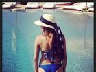Nívea Stelmann posa de biquíni em férias no México
