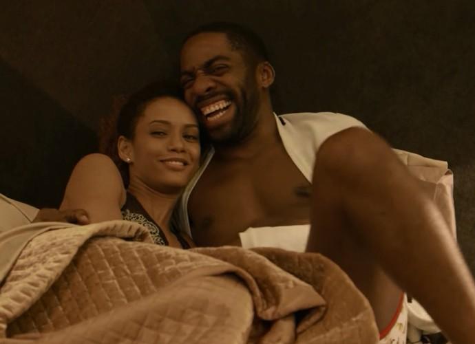 Brau e Michele no maior love (Foto: TV Globo)