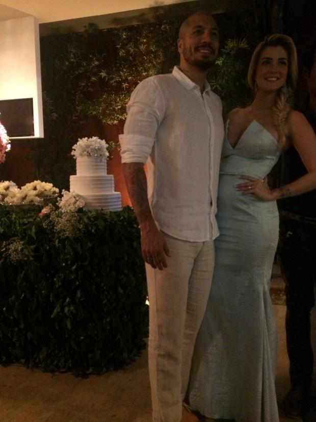 Aline Gotschalg e Fernando Medeiroscomemora casamento (Foto: Reprodução do Instagram)