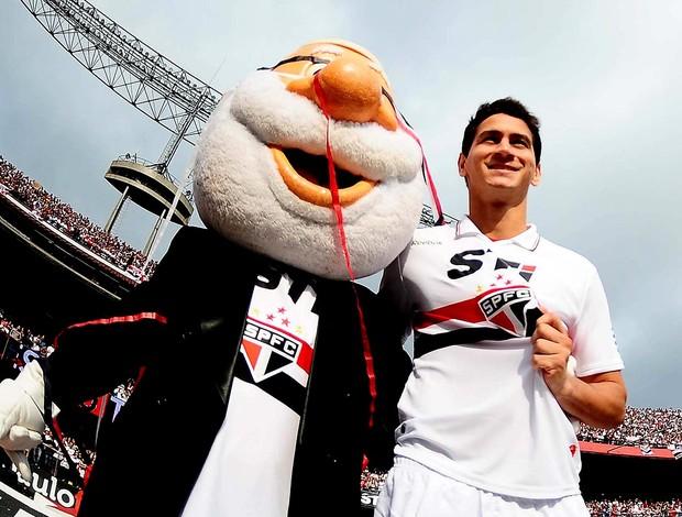 Paulo henrique ganso são paulo apresentação (Foto: Marcos Ribolli / Globoesporte.com)