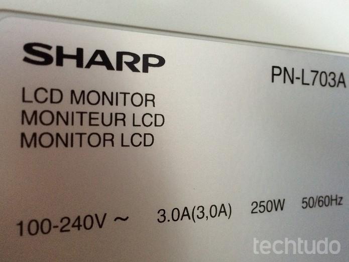 sharp-pn-l703b (Foto: Victor Teixeira/TechTudo)