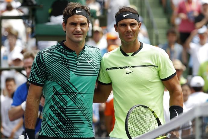 Roger Federer e Rafael Nadal fazem final de Miami (Foto: Reuters)