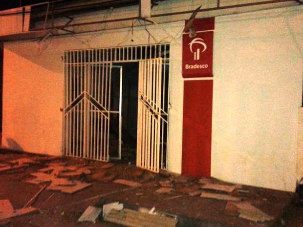 Desta vez, alvo foi agência do Bradesco de Pirapemas (MA) (Foto: Divulgação/Polícia Civil)