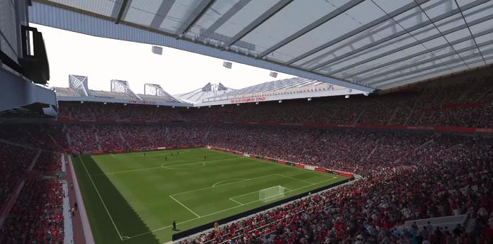 Teatro dos Sonhos: bela imagem do estádio do United (Foto: Reprodução/Thiago Barros)