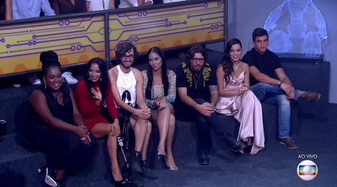 Ex-brothers na Final do BBB1 (Foto: TV Globo)
