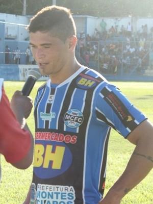 Rafael Bill marcou o gol de empate do Montes Claros (Foto: Ricardo Guimarães/Assessoria do MCFC)