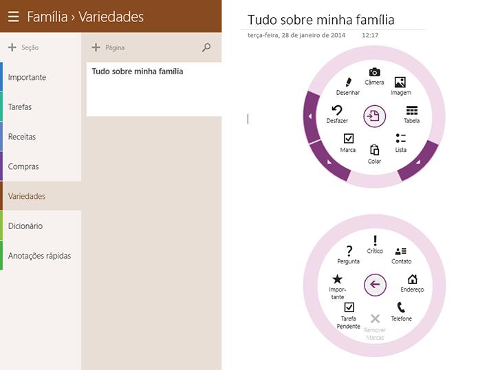 Com design limpo e ferramentas úteis, OneNote é excelente opção para organizar as informações domésticas (Foto: Reprodução/Paulo Alves) (Foto: Com design limpo e ferramentas úteis, OneNote é excelente opção para organizar as informações domésticas (Foto: Reprodução/Paulo Alves))
