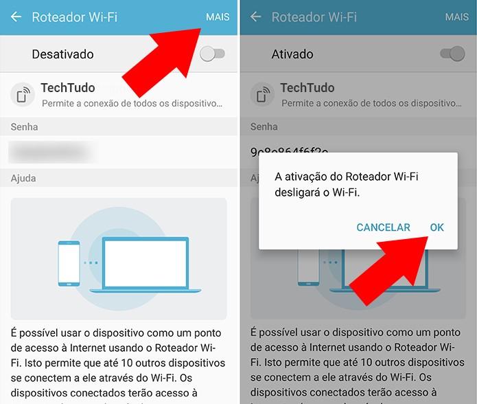 Ative a conexão de dados via Wi-Fi (Foto: Reprodução/Paulo Alves)