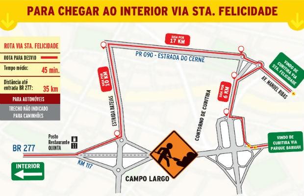 Desvio pela Estrada do Cerne é uma das opções para os motoristas (Foto: Divulgação/Rodonorte)